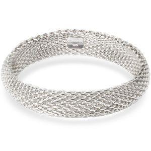 Tiffany Somerset Silver Mesh Bangle Bracelet